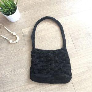 The Sak black woven crossbody purse
